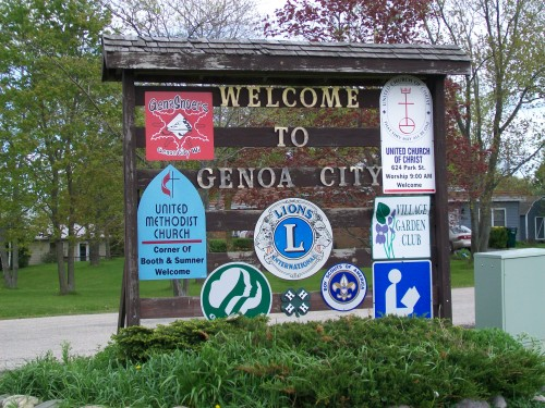 Genoa City Sign