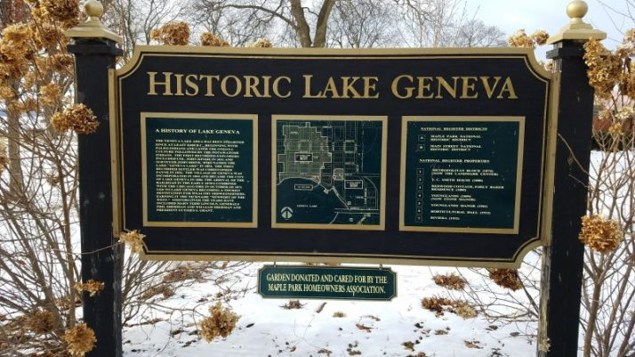 Historic Lake Geneva sign