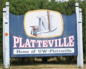 Platteville sign