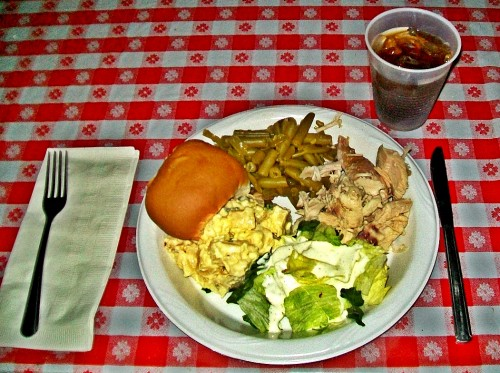 Pre-show turkey dinner
