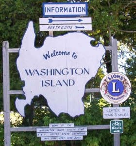Washington Island sign