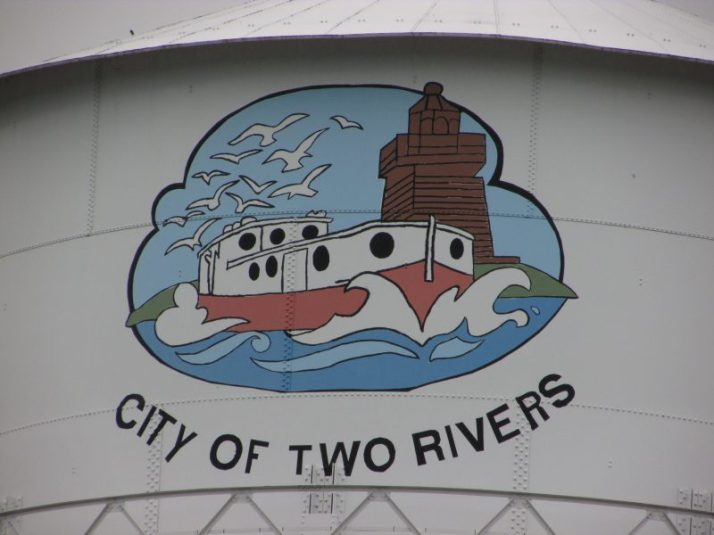 Two Rivers Water tower picture