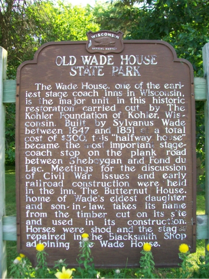 Wade House sign_6-30 028