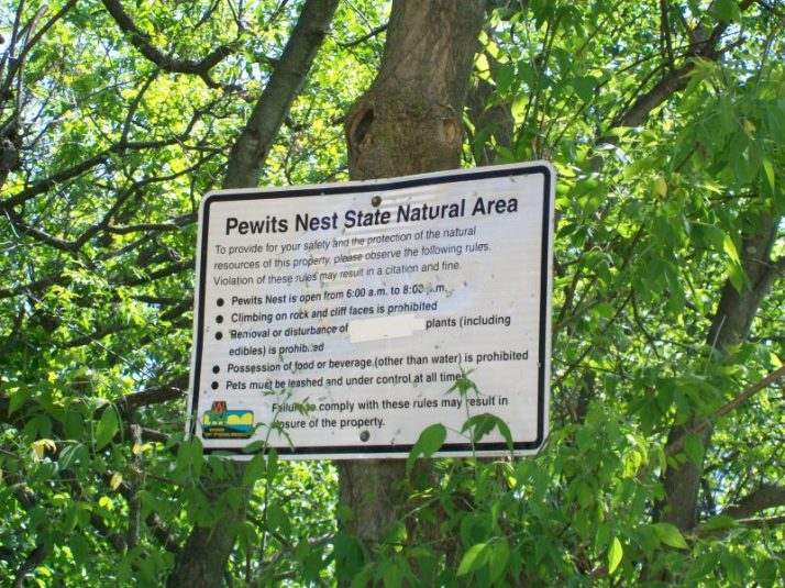 Pewit's Nest sign