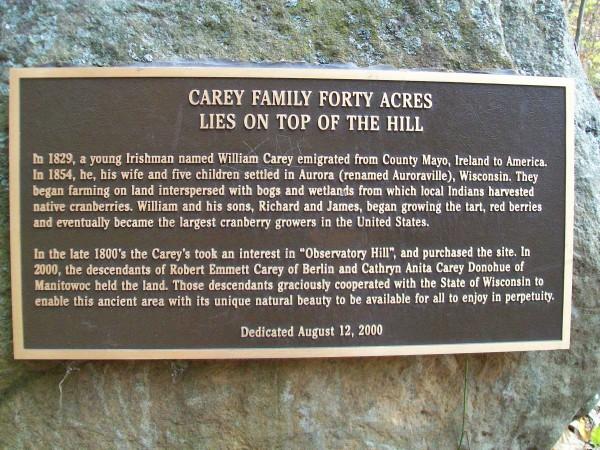Observatory Hill plaque near Montello