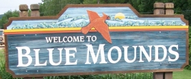 Blue Mounds sign