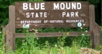 Blue Mounds State Park sign
