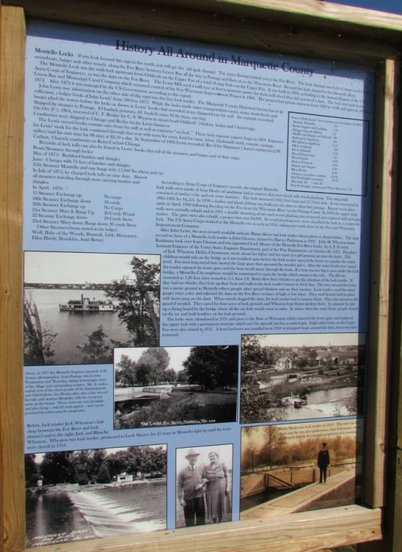 Buffalo Lake sign side 1