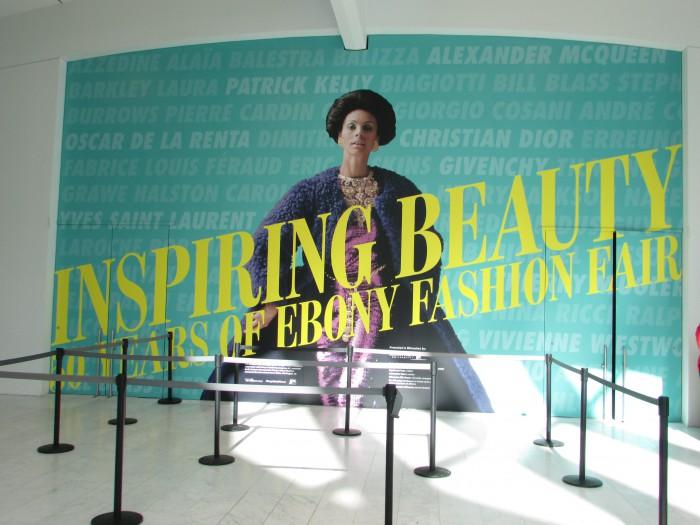 Ebony  Exhibit entrance at Milwaukee Art Museum