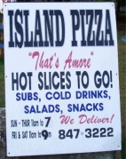 Island Pizza sign