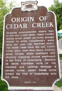 Origins of Cedar Creek