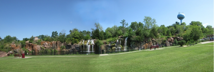 Panoramic Montello Falls View from Daggett Park