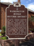 Washington Ave Historic District sign