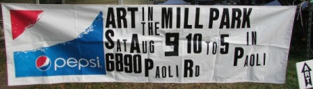 Art in the Mill Park Banner