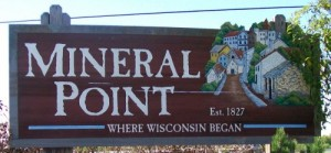 Mineral Point sign