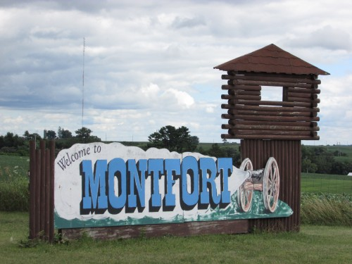 Montfort Wisconsin Sign