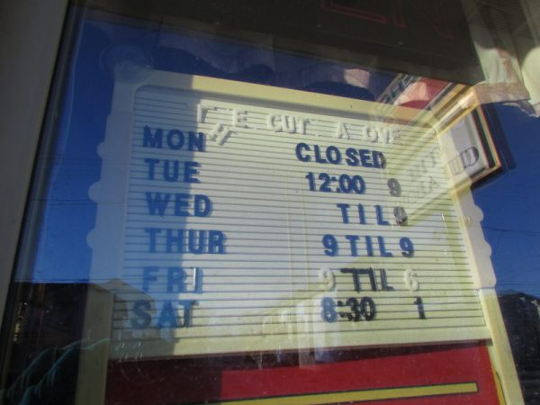 The Cut Above business hours