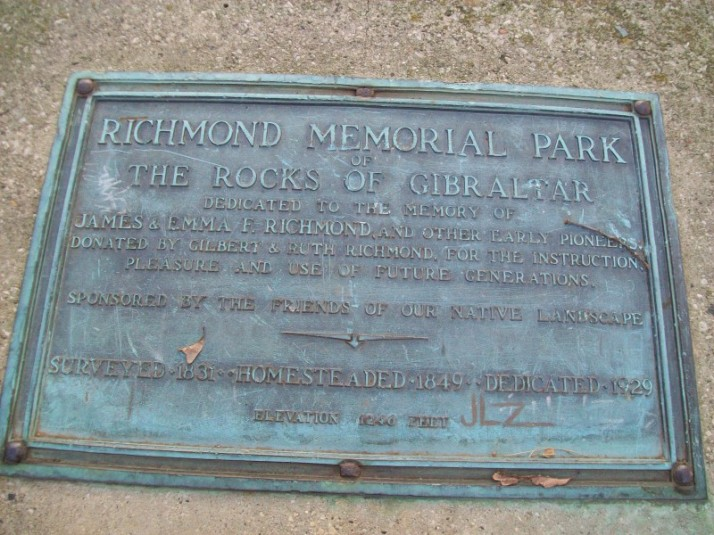 Gibraltar Rock plaque