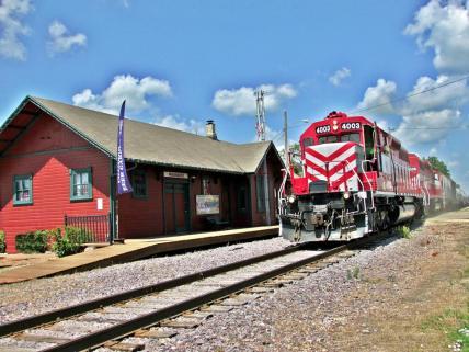 Waunakee Depot and train