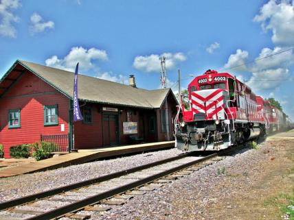 Waunakee Depot and train