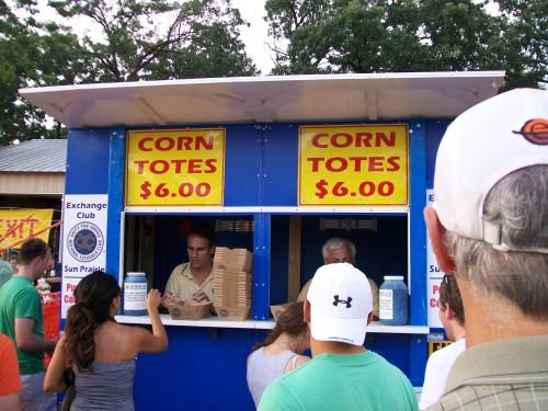 Corn Tote booth Sun Prairie, WI