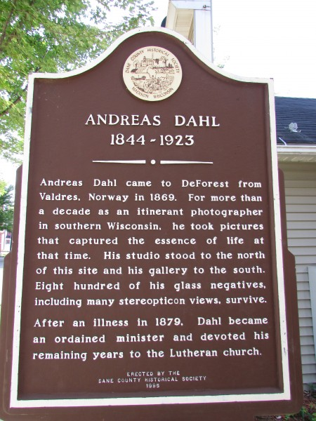 Andreas Dahl Early DeForest Settler