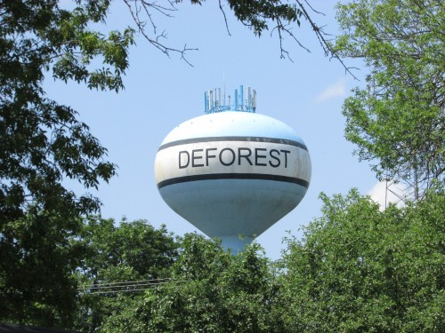 DeForest Wi water tower