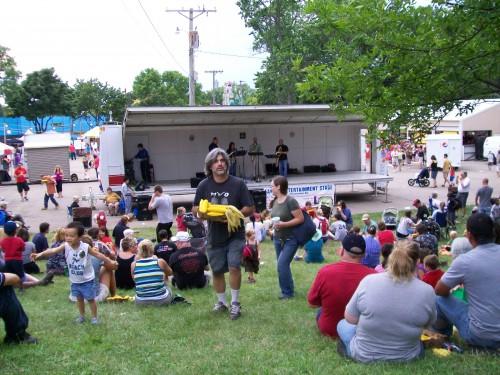 Corn Fest stage