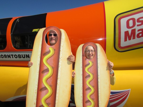 Weinermobile and us as hot dogs