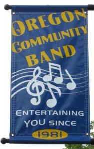 Oregon Community Band sign