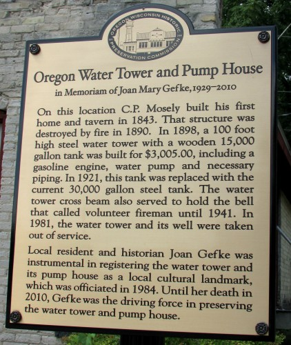 Oregon Water Tower sign