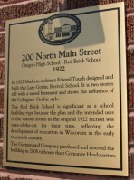 Red Brick school Sign