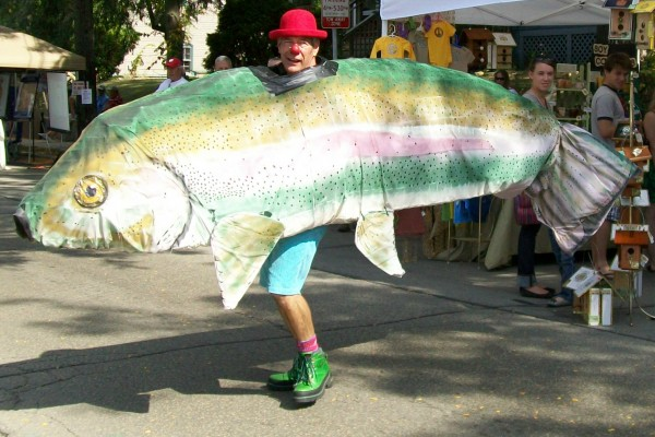 Willy St. Fair 2009 fish costume