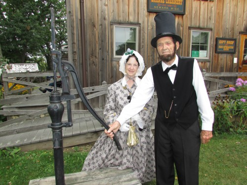 Present Abraham Lincoln and Mary Todd