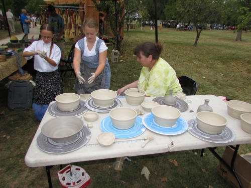 Pottery Demo at Beckman Mill, Beloit