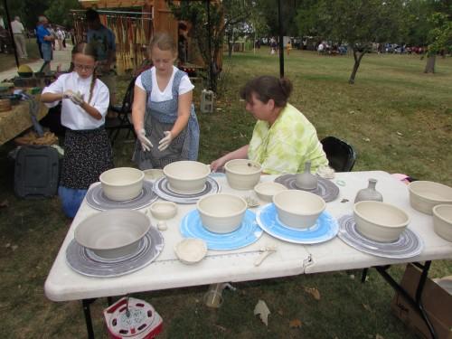 Pottery Demo at Beckman Mill, Beloit