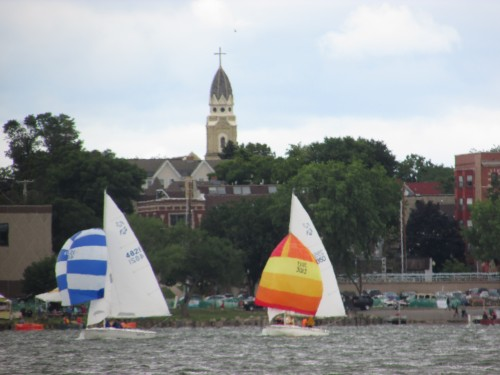 Sailboats on Lake Monona