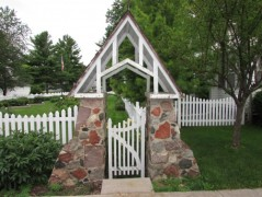 Sisson's Peony Garden Stone Entrance
