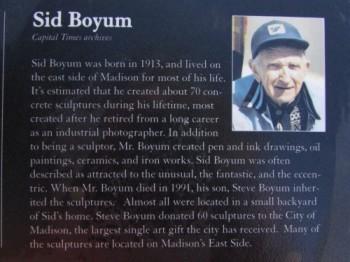 Sid Boyum sign
