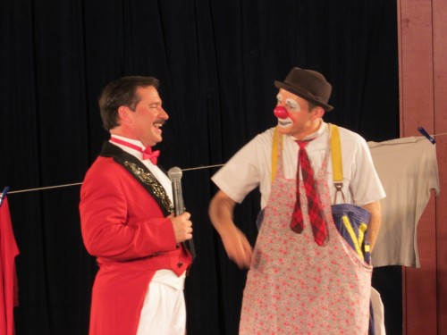 Ringmaster and Roger the Clown