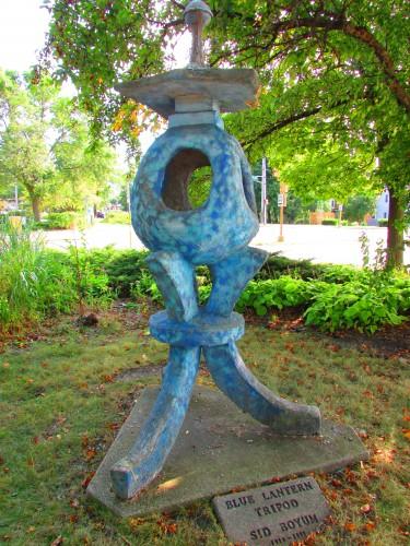 Blue Tripod Lantern