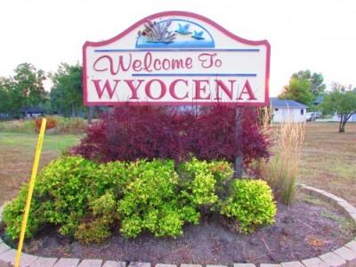 Wyocena sign