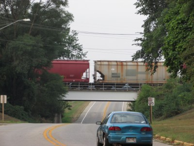 Train on Overpass-Wyocena, WI