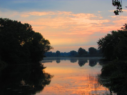 Sunrise over Duck Creek in Wyocena