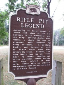 Rifle Pit Legend at Wyona Park in Wyocena WI