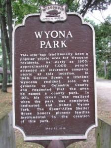Wyona Park history in Wyocena WI