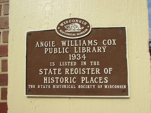 Angie Williams Cox library historic marker