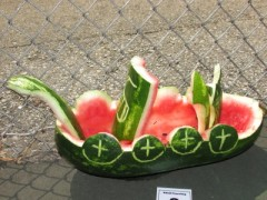 Watermelon Viking ship