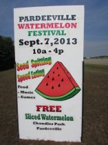 Pardeeville Watermelon Festival sign