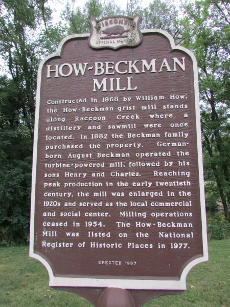 Beckman Mill Marker